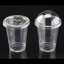 Custom logo cheap price pp material water clear disposable plastic coffee cup with lid