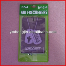 cross-shaped paper freshener/ squash air freshener wholesale/ girly car air fresheners