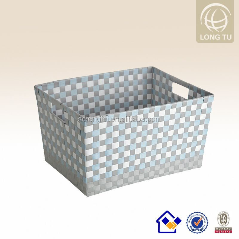 2016 handmade cheap plastic laundry basket folding organizer made of PP rattan