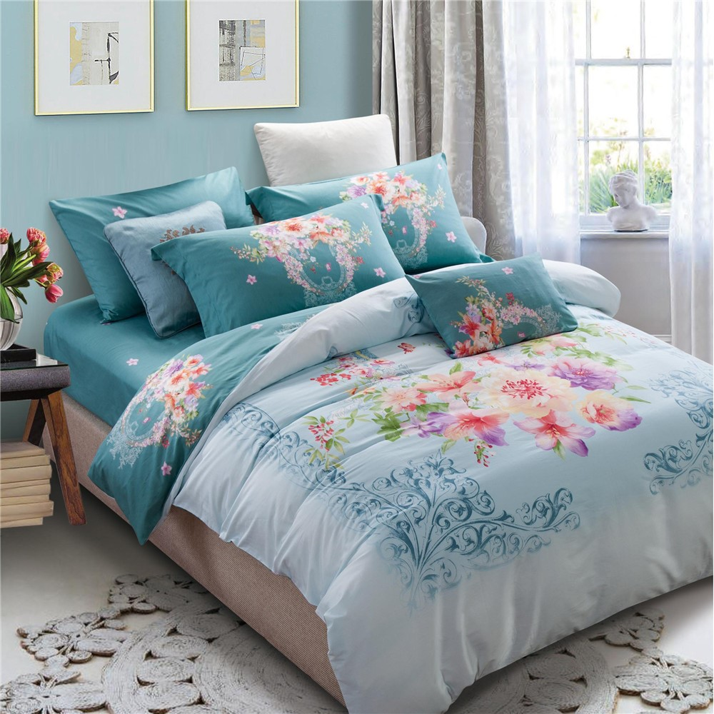 lovely printed duvet cover sets king size high quality bed sheet free samples