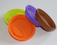 Eco friendly fashion travel reusable soft silicone coffee cup tea cup cover cap lids