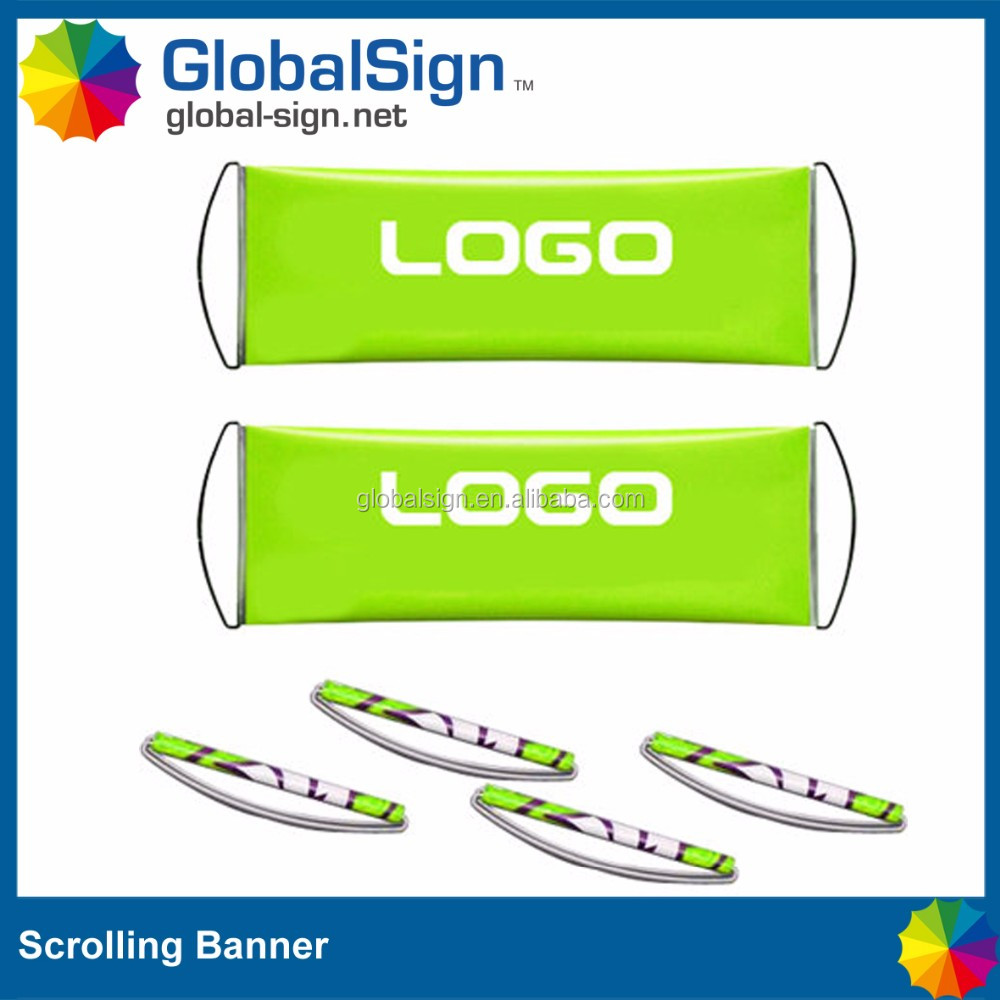 plastic flagpole material fan rolling banner