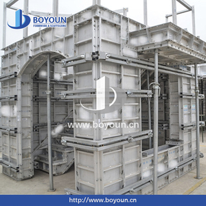Boyoun competitive price manufacturer clamps forms wall panels aluminium concrete formwork