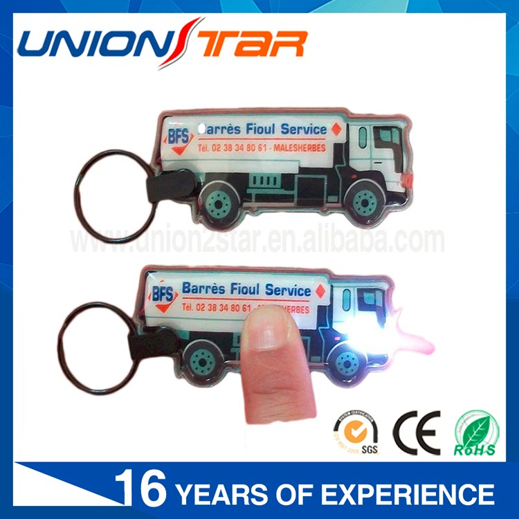 Promotional Gifts Customized Car Shaped Plastic Led light Keychain,Rubber Keychain, PVC Key Chain Wholesale
