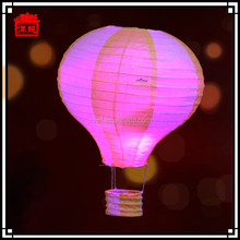 Chinese hot air ballon led hanging paper lanterns for wedding and birthday JLS04-2