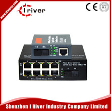 0/100Mbps Fiber Optic Media Converter 1 CH*SC 8 CH*RJ45 Netlink Converter 1 CH*SC 1 CH*RJ45 Fiber Optic Transceiver