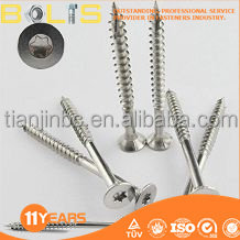 High quality 304 / 316 stainless steel deck screws