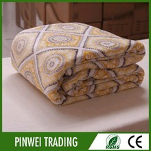 factory direct jacquard satin adult king 2 ply mink blanket gold excel