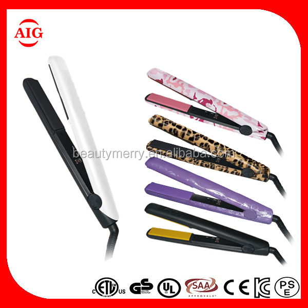 Hot Selling Product brand name Professional Stone plate hair straightener flat iron japan hair styling tools as seen on tv
