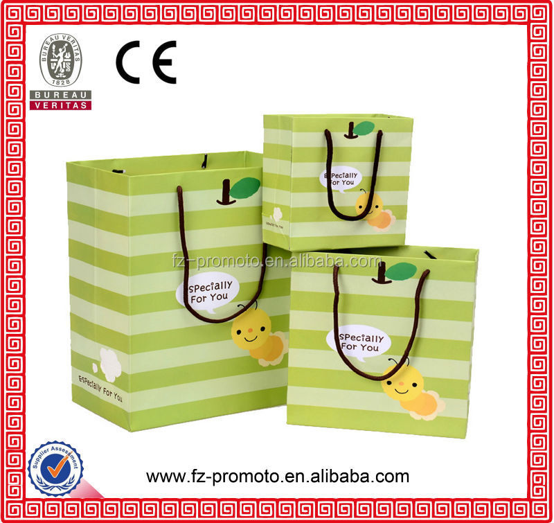 paper laminated promotional shopping bag