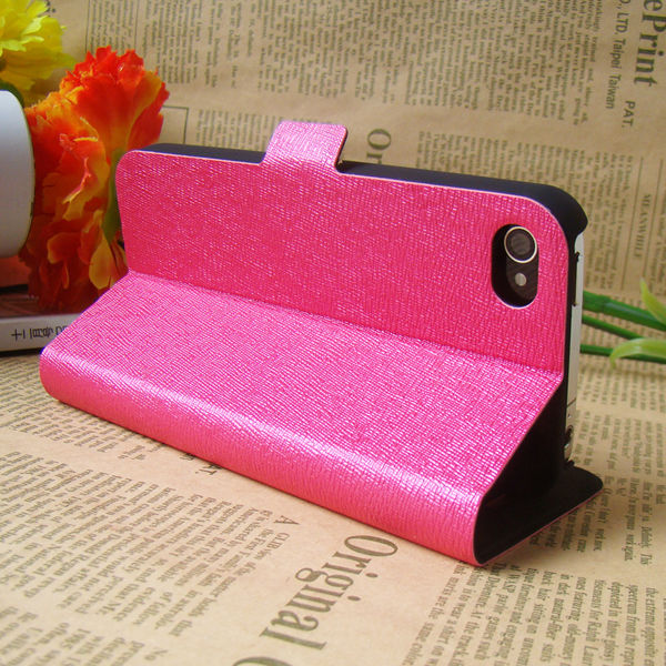 Ultra-thin flip leather case for iphone 4