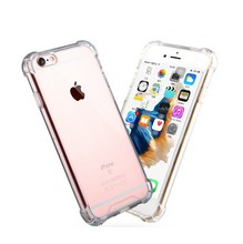 Hybrid Shockproof PC Bumper +TPU Frame Clear Back Silicone Case for iphone 6