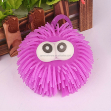 wholesale cut fashion big eyes monster light up animal puffer ball