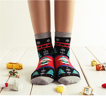 Custom special style christmas winter warmful ankle socks for womens