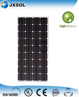 Monocrystalline Silicon High Power Efficiency Solar Panels 100 Watt with TUV IEC certificate