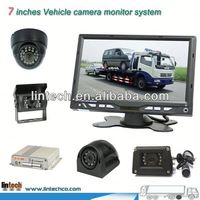 High definition 7 inch 4/8 channels wireless outdoor security camera system with mobile DVR