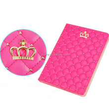 Crown Design PU Leather Smart Protective Stand Case Cover with Auto Sleep/Wake for Apple iPad 2/3/4-Rose Red