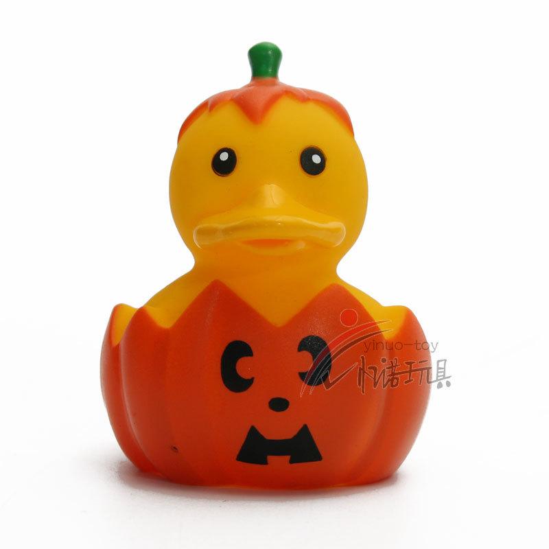 2018 Rubber Floating Pumpkin Ducks Bath Toys,Halloween Water ...
