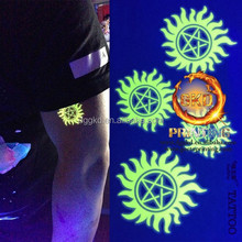 body tattoo sticker glow in the dark
