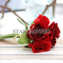 2017 Hot Sale SF2017154 China high quality nature touch artificial rose flower for wedding and bouquet decoration and bouquet