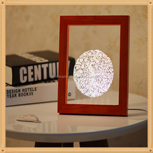 Wooden 3D LED photo Frame table Lamp