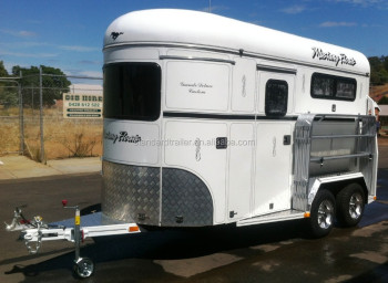 High quality deluxe horse trailer made in china
