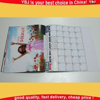 Colorful calendar type wall calendar