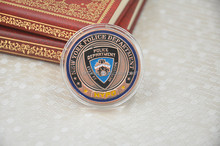Souvenir Coin NYPD New York Police Department Gold Plated Collection Gifts