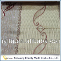 High quality China Manufacturer jacquard Woven mesh curtain fabric