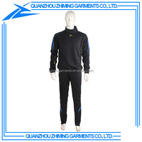 Design Your Own Black Color Tracksuit Men for Sports and Fitness