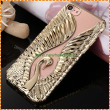 Fashion Angel Wings Electroplate Relief Love Crazy phone case for iphone 7