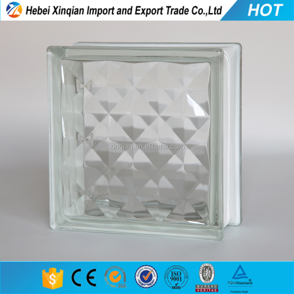 Hollow acrylic glass block with hole