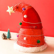 Wholesale good quality christmas santa hat/Christmas hats ideas