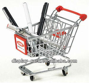 mini shopping cart & trolley usd in the desk and decoration