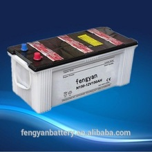 automotive lead 12v 150Ah auto N150 dry charged auto/automotive/starting battery grip car battery