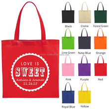 Red color hand canvas bag wholesale fashion tote men canvas bag
