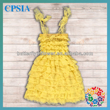 Lastest Design Kids Girls Party Dresses Ruffled Children's Prom Gown For Kids Many Colors