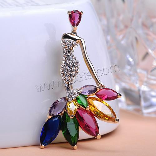 Zinc Alloy Mermaid Brooch 897826