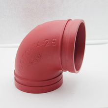 Ductile casting iron grooved pipe fittings and grooved elbow