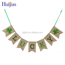 2017 Wholesale New Item St. Patrick's Day Party Leprechaun Letters Hanging Decoration