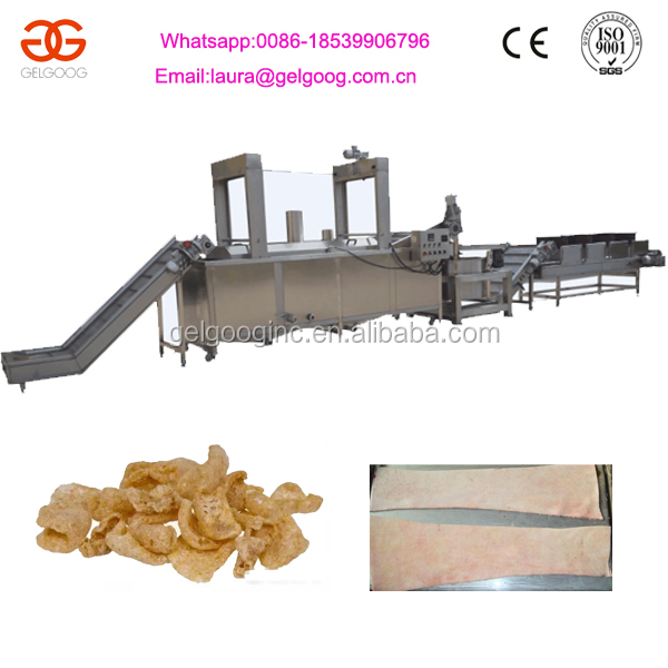 Oil-Water Continuous Deep Fryer for Pork Skin