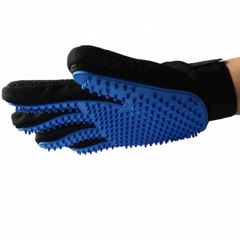 259 Tips enhanced five finger design pet hair remover glove dog deshedding grooming glove brush for all dogs