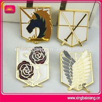 novelty brass wing badge with enamel,custom metal brass pin