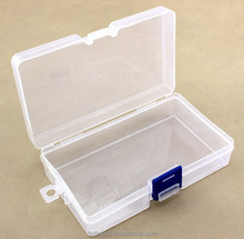 Clear Component parts Kits Plastic Storage box Case without Compartment