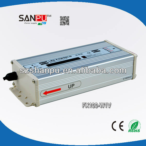 SANPU 2013 hot selling CE ROHS FX 100W 27V siemens power supply led power led driver led strip transformer