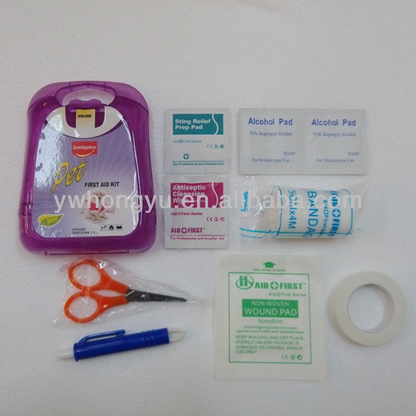 High Quality Purple Nice Light Weight Pet Care First Aid Kit