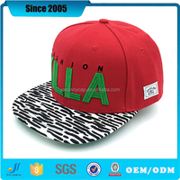 Promotional custom flat bill embroidery 100 wool snapback caps/hats/flat brim hats