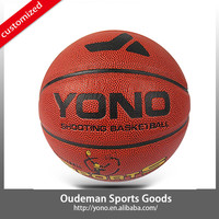 2015 YONO Cheap PU leather basketball,official size 5 basketball,laminated PU basketball