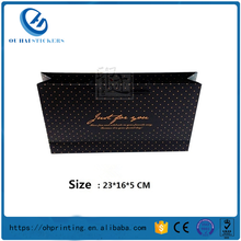 Guanghzou Manufactory Large Clothing Gift Paper Shopping Black Bags