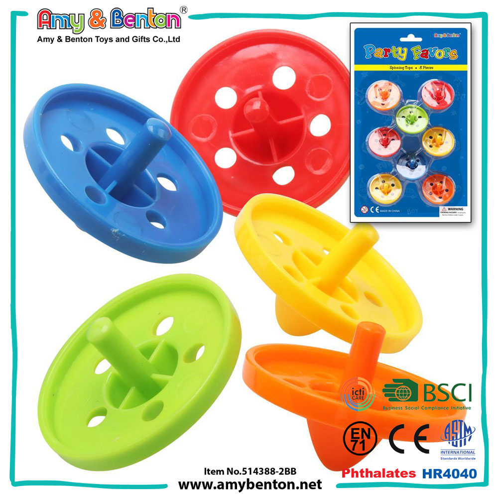 Children promotional item cheap plastic spinning top toy